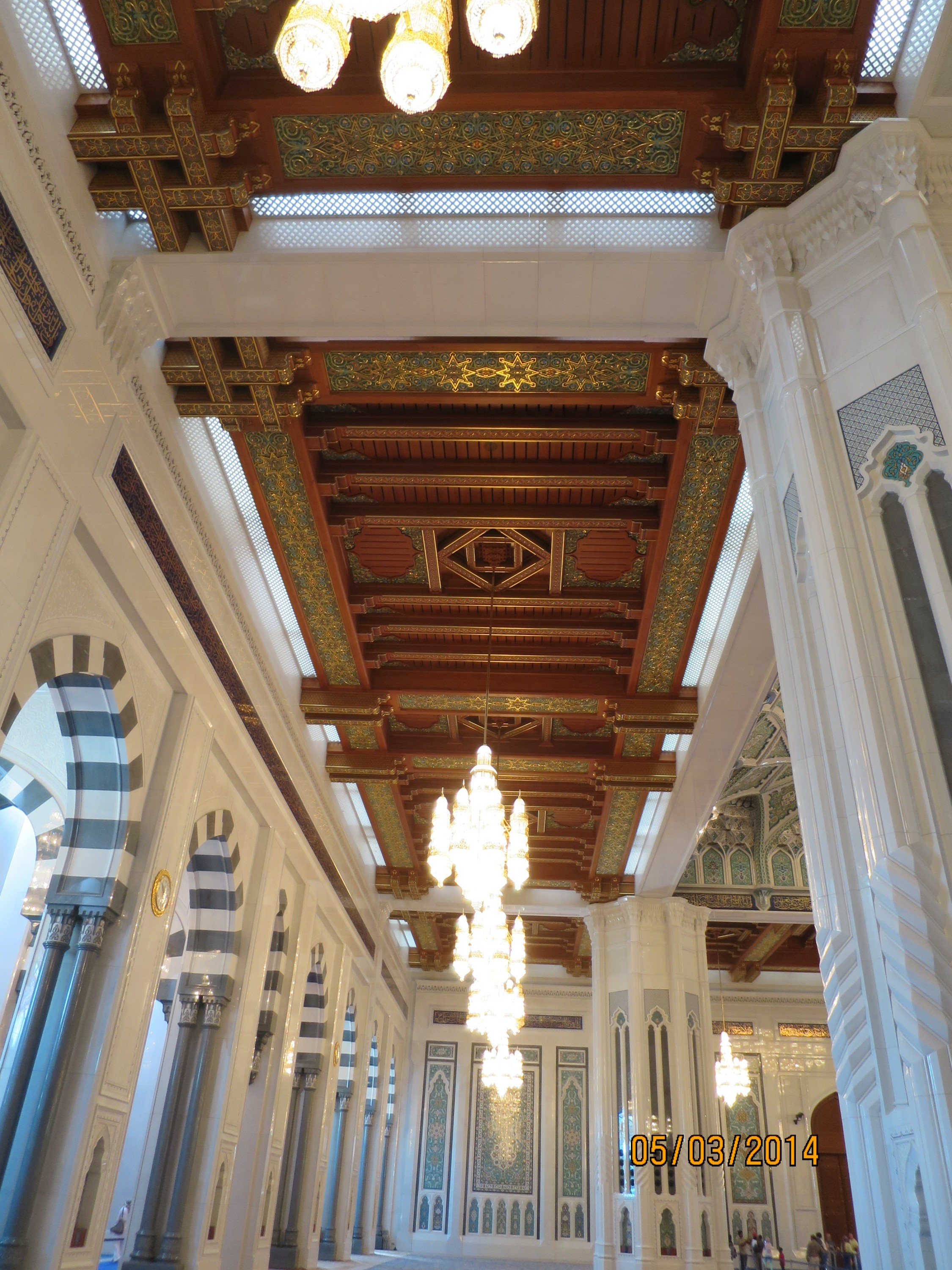 timbered panels reflects the architecture of Omani ceilings