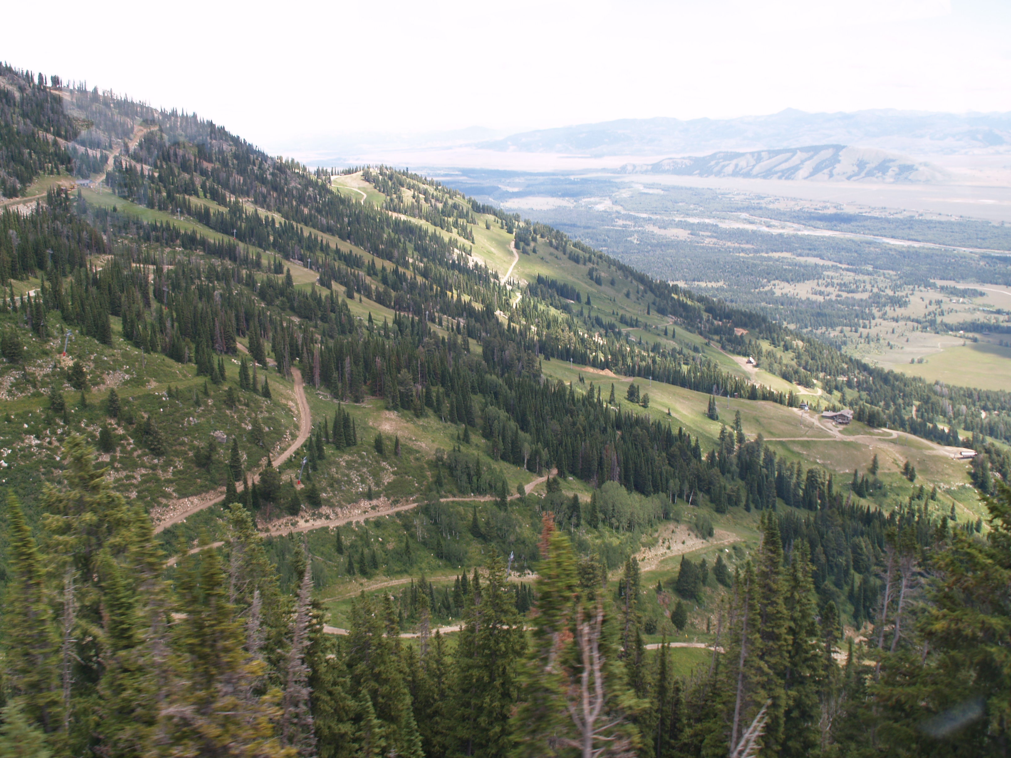 view looking across part of the ski area