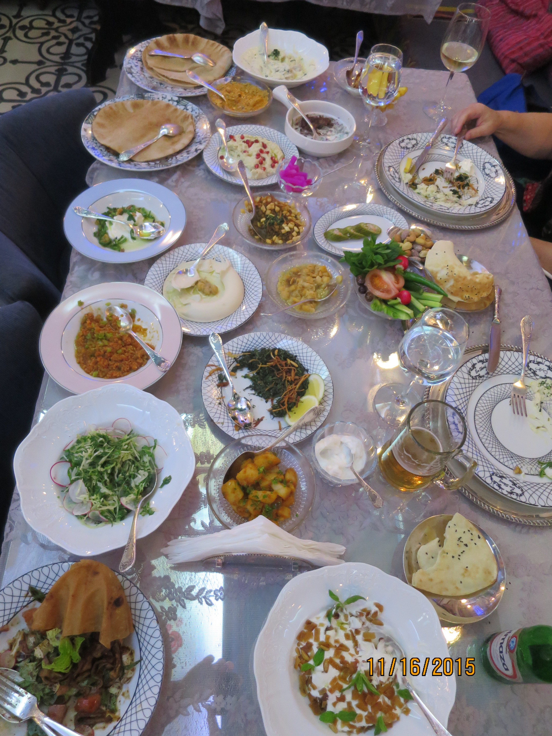 a sampling of some the the Lebanese food